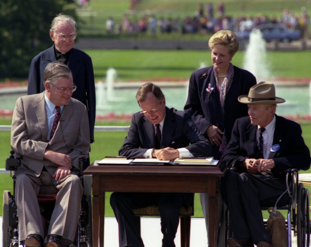 President Bush signing the ADA, leading to PDF Accessibility