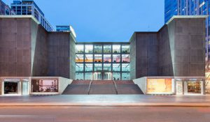 museum of contemporary art in chicago - front outdoor view of window panel