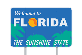 Roadsign: Welcome to Florida the Sunshine State