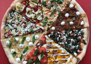 PIzza with many various toppings