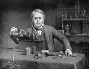 Thomas Edison in his lab for inventors