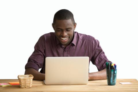 Man using Equidox software to remediate PDFs.