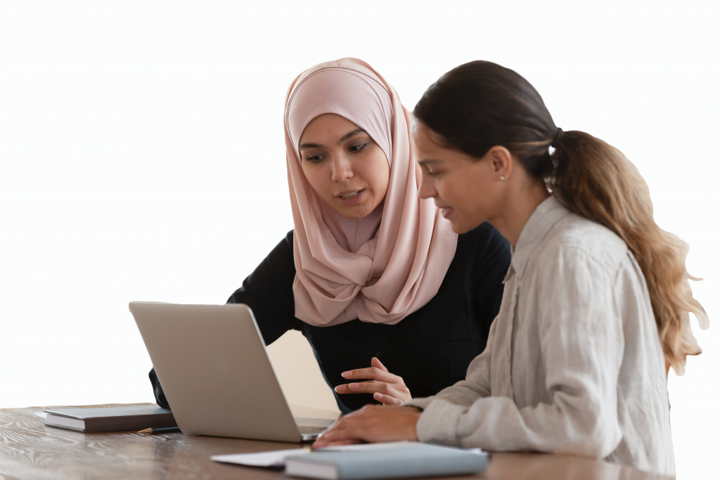 Women consulting about Equidox PDF Remediation software and services